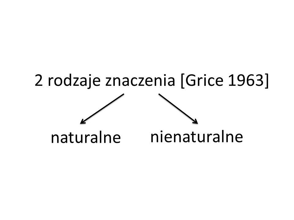 2 rodzaje znaczenia [Grice 1963]
